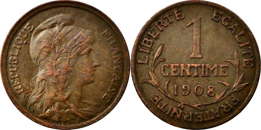 World Coins - Coin, France, Dupuis, Centime, 1908, Paris, EF(40-45), Bronze, KM:840