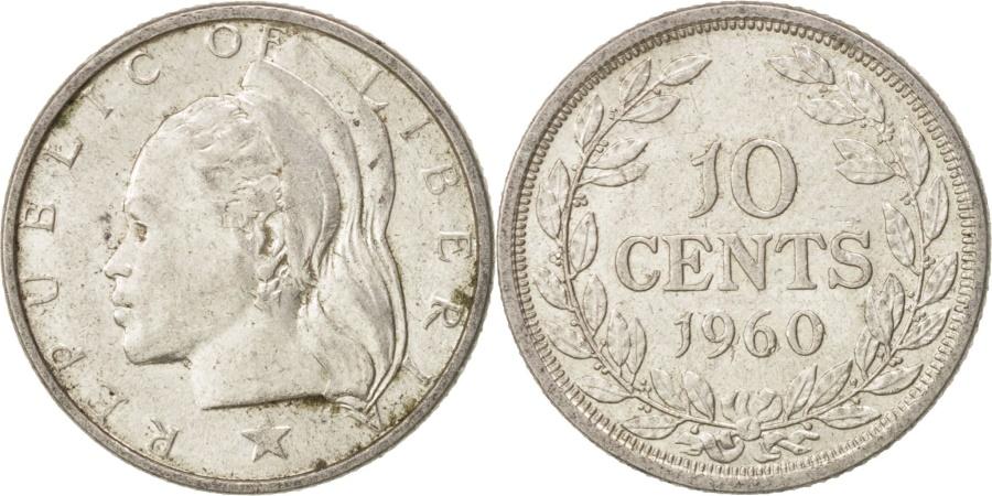 World Coins - Liberia, 10 Cents, 1960, , Silver, KM:15