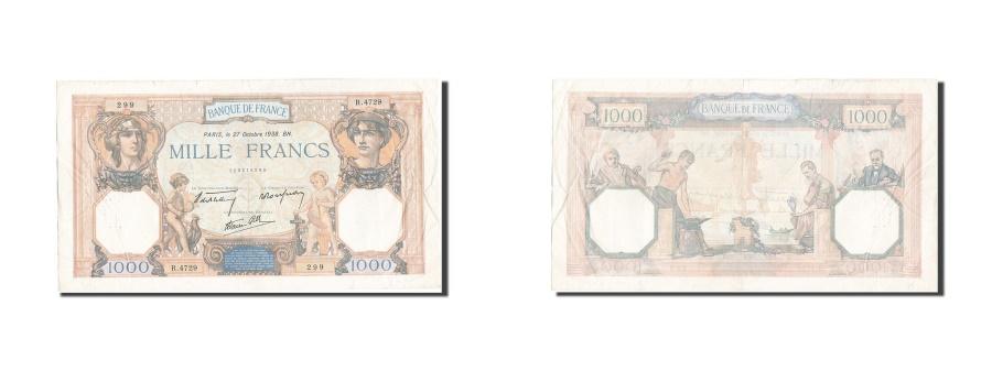 World Coins - France, 1000 Francs, 1 000 F 1927-1940 ''Cérès et Mercure'', 1938, KM:90c,...
