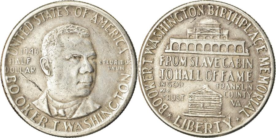 US Coins - Coin, United States, Half Dollar, 1946, U.S. Mint, Denver, , Silver