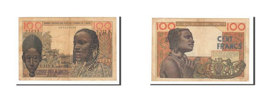 World Coins - West African States, 100 Francs, 1961, KM:701Ka, 1961-03-20, VF(30-35)
