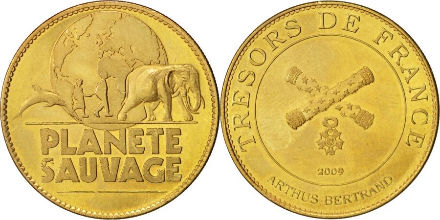 World Coins - France, Touristic token, 44/ Planète Sauvage - Logo, 2009, Arthus Bertrand