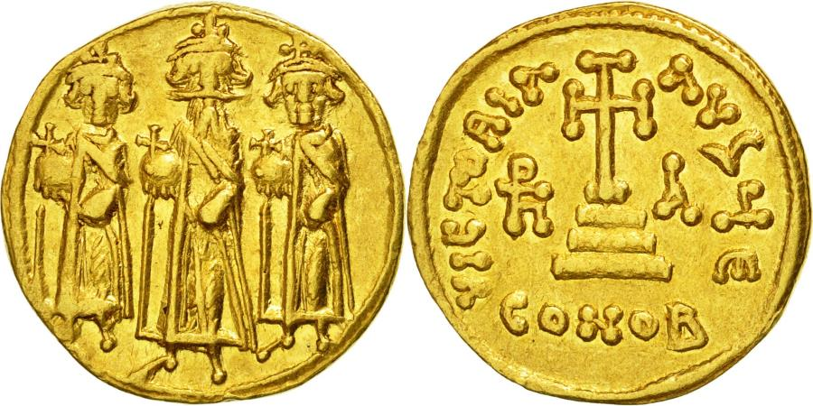 Ancient Coins - Coin, Heraclius, Solidus, 637-638, Constantinople, , Gold, Sear:764