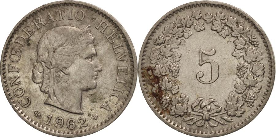 World Coins - Switzerland, 5 Rappen, 1962, Bern, , Copper-nickel, KM:26