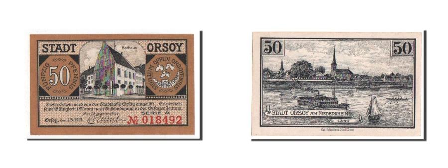 World Coins - Germany, Orsoy Stadt, 50 Pfennig, 1921, UNC(65-70), 018492, Mehl #1026.1c