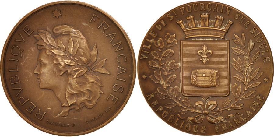 World Coins - France, St Pourçain sur Sioule, Medal, Lancelot, 45mm