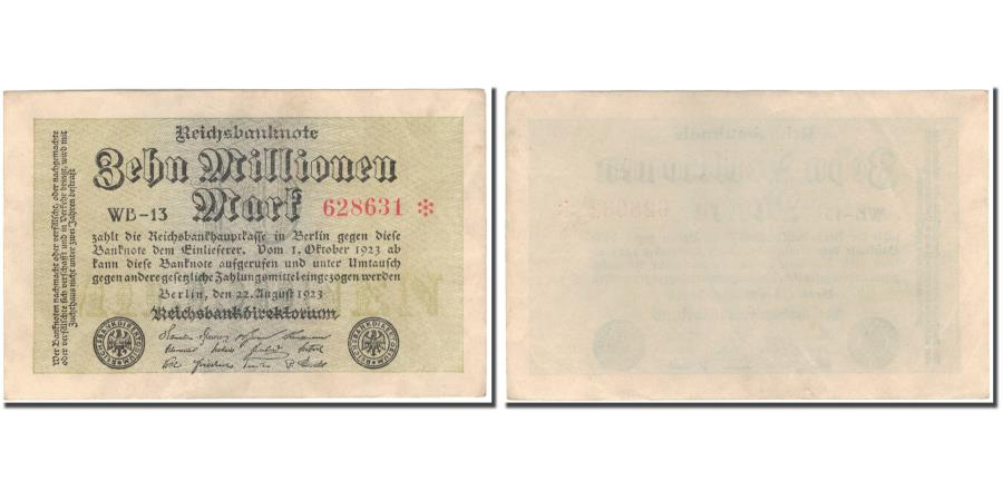 World Coins - Banknote, Germany, 10 Millionen Mark, 1923, KM:106a, AU(50-53)