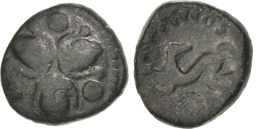 Ancient Coins - Veliocasses, Bronze, , Bronze, Delestré #656var, 2.68