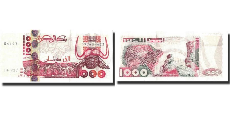 Dinars 1998 P-142b Unc 1,000 Algeria 1000
