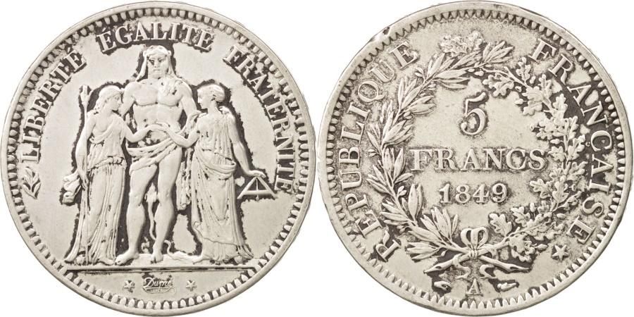 World Coins - France, Hercule, 5 Francs, 1849, Paris, , Silver, KM:756.1, Gadoury:683
