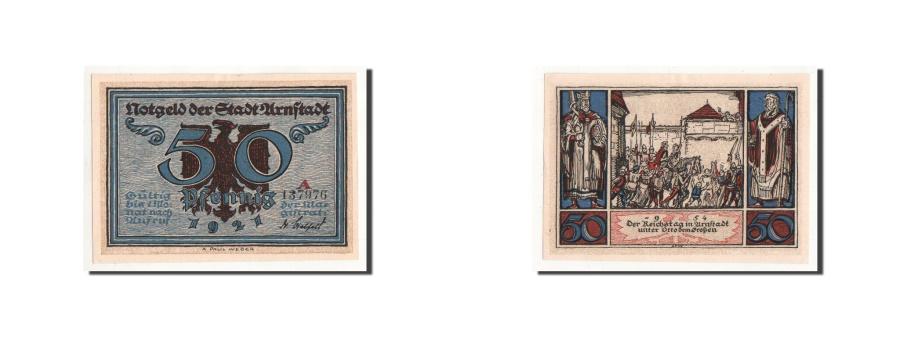 World Coins - Germany, Arnstadt, 50 Pfennig, personnage 1, 1921, UNC(65-70), Mehl:43.3