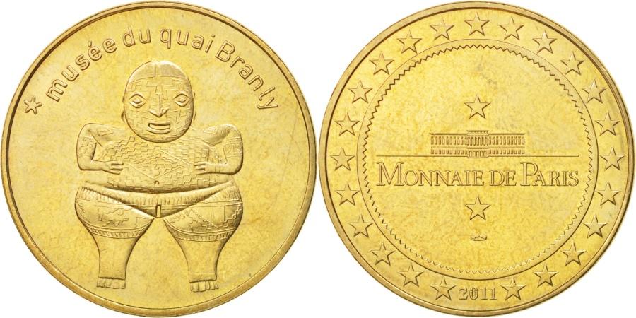 World Coins - France, Tourist Token, 75/ Paris - Musée du Quai Branly - Chupi, 2011, MDP