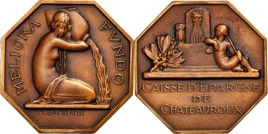 World Coins - France, Medal, Bank, Caisse d'épargne, Business & industry, 20 Th Century
