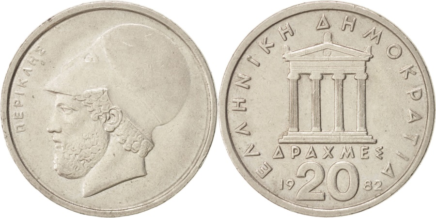 World Coins - Greece, 20 Drachmes, 1982, , Copper-nickel, KM:133