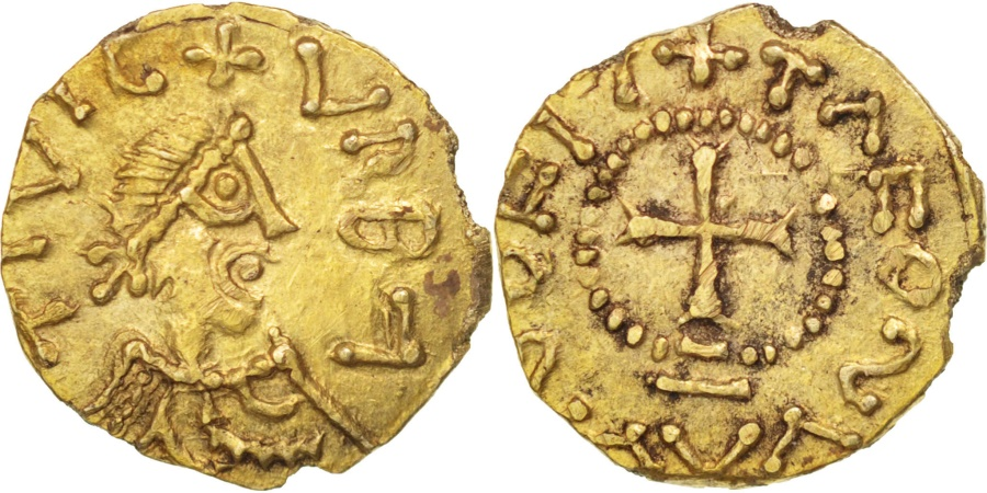 World Coins - Merovingians, Orbe (VRBA), Triens, , Gold, Unpublished