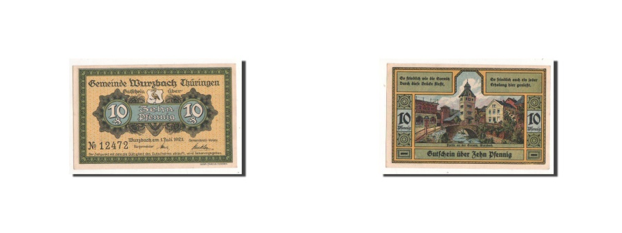 World Coins - Germany, Wurzbach, 10 Pf, paysage, 1921-07-01, UNC(65-70), Mehl:1459.1