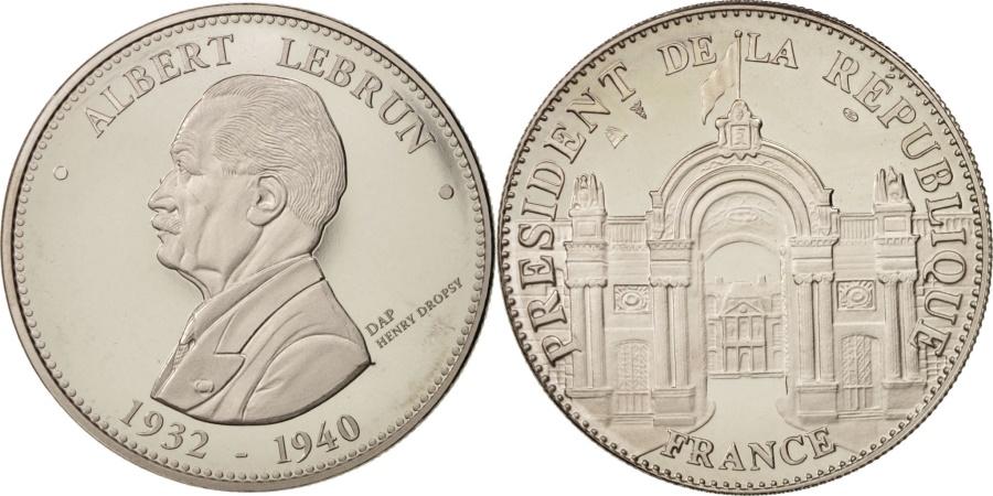 World Coins - France, Medal, Les Présidents de la République, Albert Lebrun, French Fifth