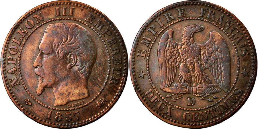 World Coins - Coin, France, Napoleon III, Napoléon III, 2 Centimes, 1857, Lyon, VF(20-25)