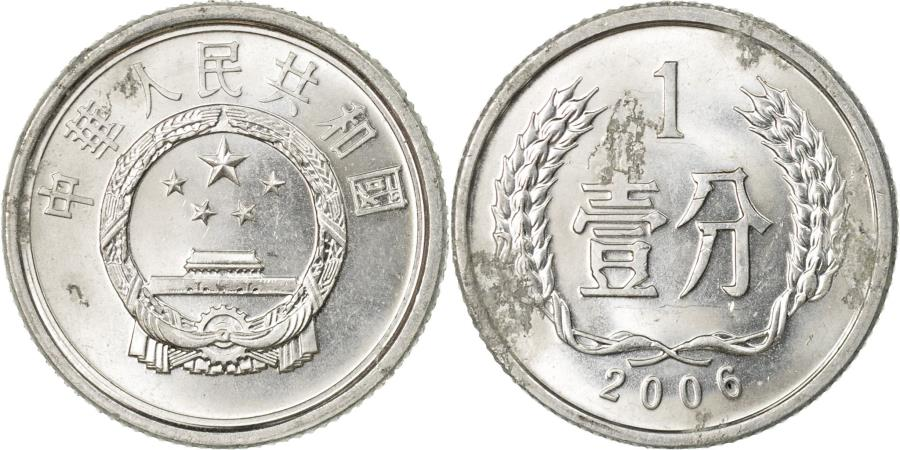 World Coins - Coin, CHINA, PEOPLE'S REPUBLIC, Fen, 2006, , Aluminum, KM:1
