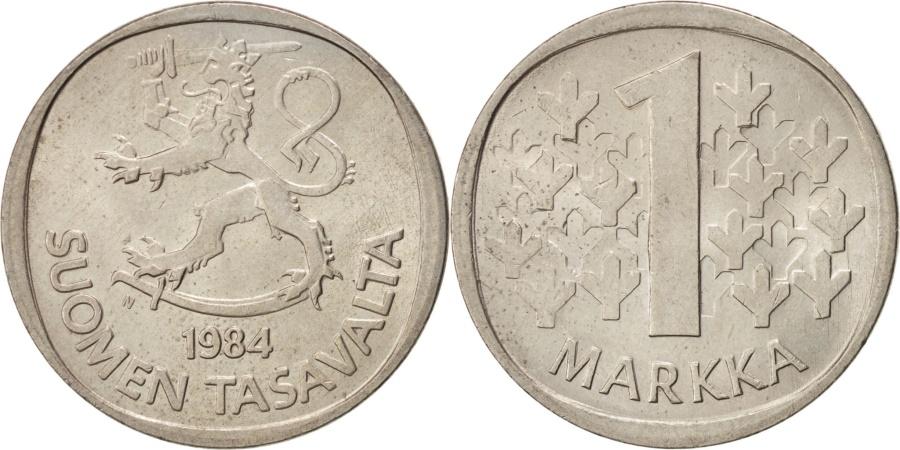 World Coins - FINLAND, Markka, 1984, KM #49a, , Copper-Nickel, 24, 6.11