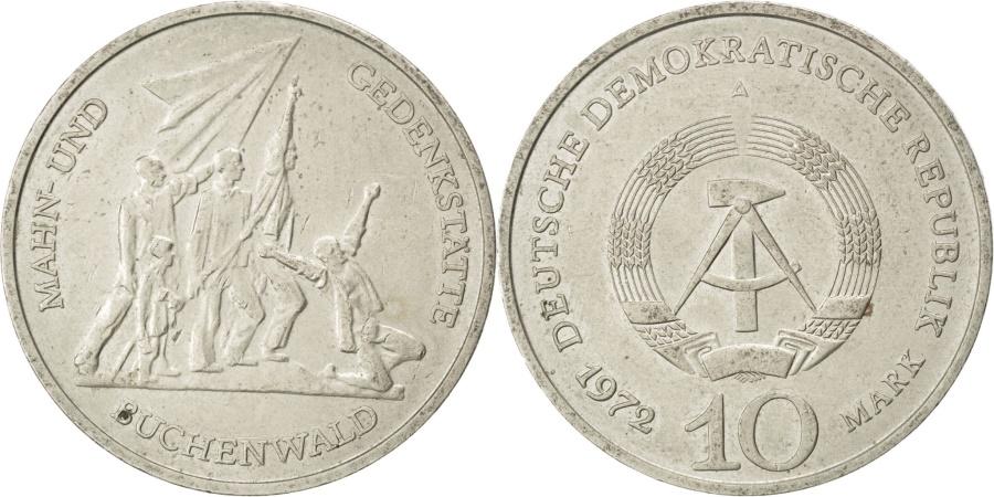 World Coins - GERMAN-DEMOCRATIC REPUBLIC, 10 Mark, 1972, Berlin, KM #38, ,...