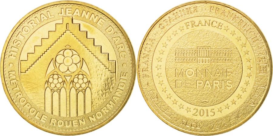 World Coins - France, Tourist Token, 76/ Historial Jeanne d'Arc - Rouen, 2015, MDP