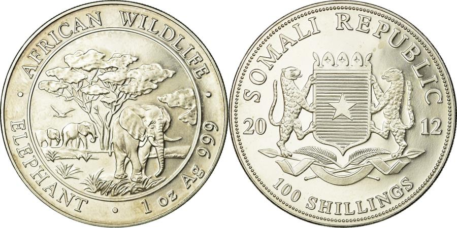 World Coins - Coin, Somalia, 100 Shillings, 2012, , Silver