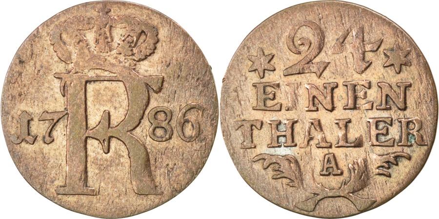 World Coins - GERMAN STATES, 1/24 Thaler, 1786, KM #296, , Silver, 19, 1.83