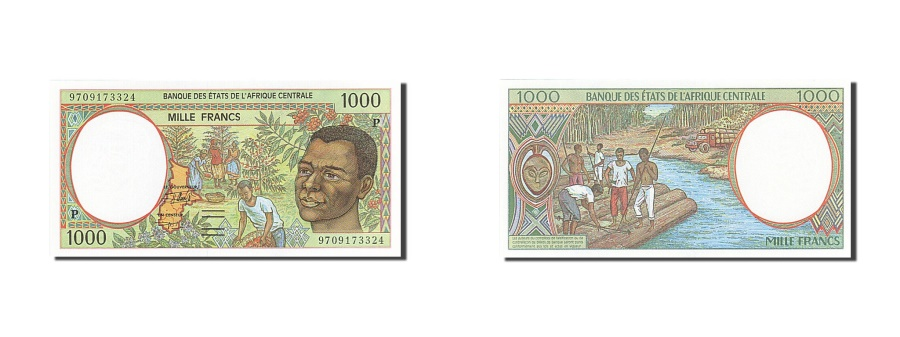 World Coins - Central African States, Chad, 1000 Francs, 1993-1994, KM:602Pd, 1997, UNC(65-70)