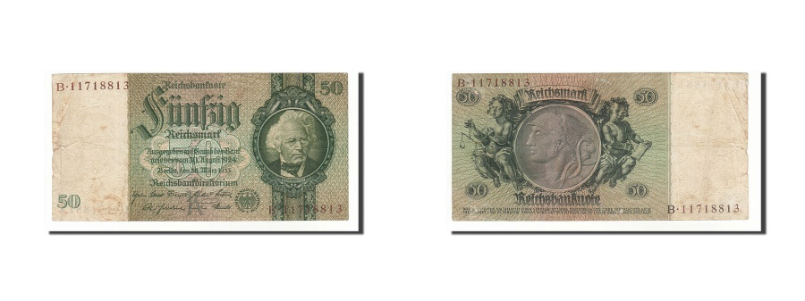 World Coins - Germany, 50 Reichsmark, 1933, KM:182a, 1933-03-30, VF(30-35)