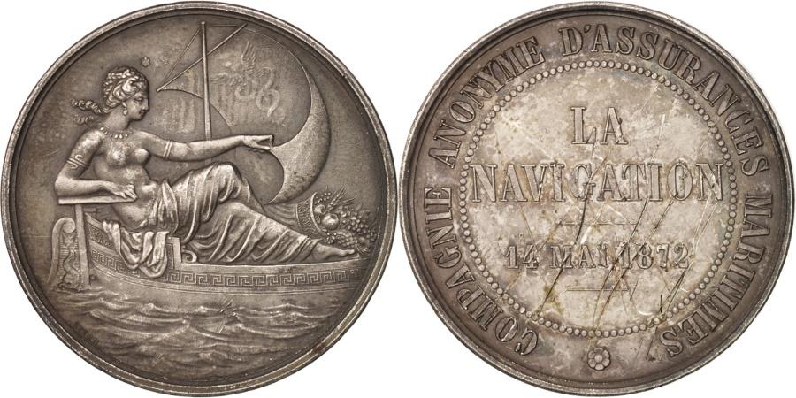 World Coins - France, Insurance, La Navigation, Compagnie anonyme d'assurances maritimes