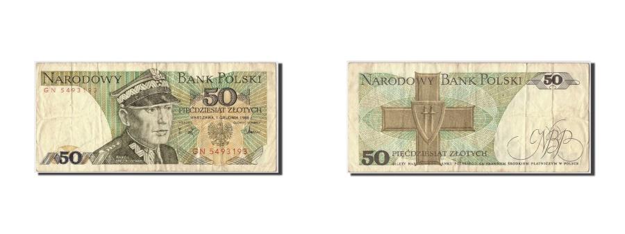World Coins - Poland, 50 Zlotych, 1988, KM #142c, 1988-12-01, VF(30-35), GN 5493193