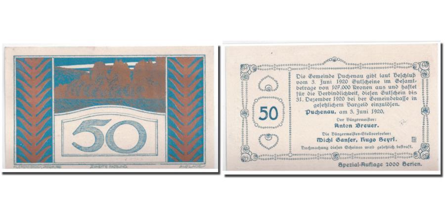 World Coins - Banknote, Austria, Puchenau, 50 Heller, paysage, 1920, 1920-06-03, UNC(63)