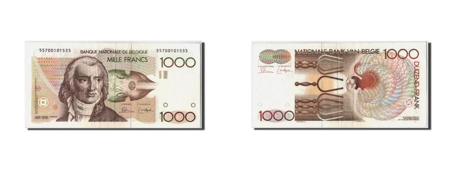 World Coins - Belgium, 1000 Francs, Undated (1980-96), KM:144a, Undated, EF(40-45)