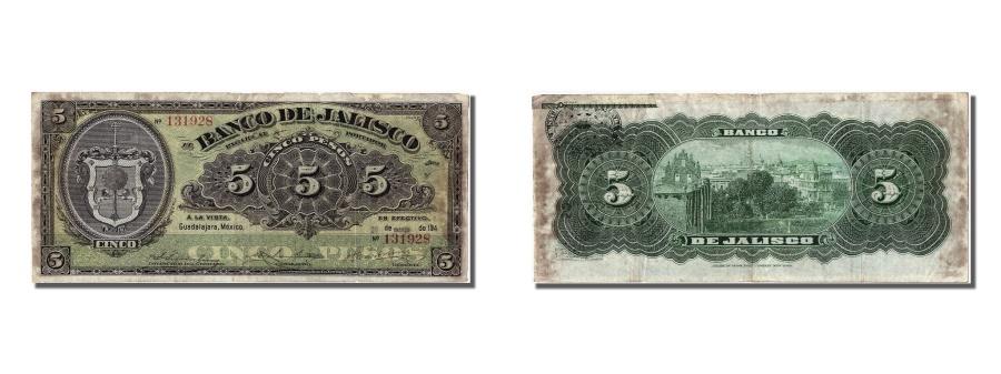 World Coins - Mexico, 5 Pesos, 1914, KM #S320c, 1914-03-26, VF(20-25), 131928