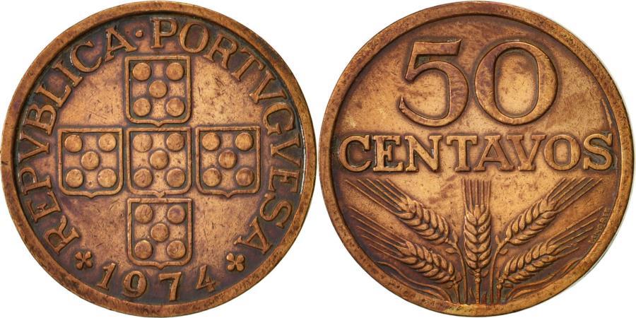 World Coins - Portugal, 50 Centavos, 1974, , Bronze, KM:596