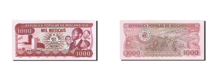 World Coins - Mozambique, 1000 Meticais, 1983-1988, KM:132a, 1983-06-16, UNC(65-70)