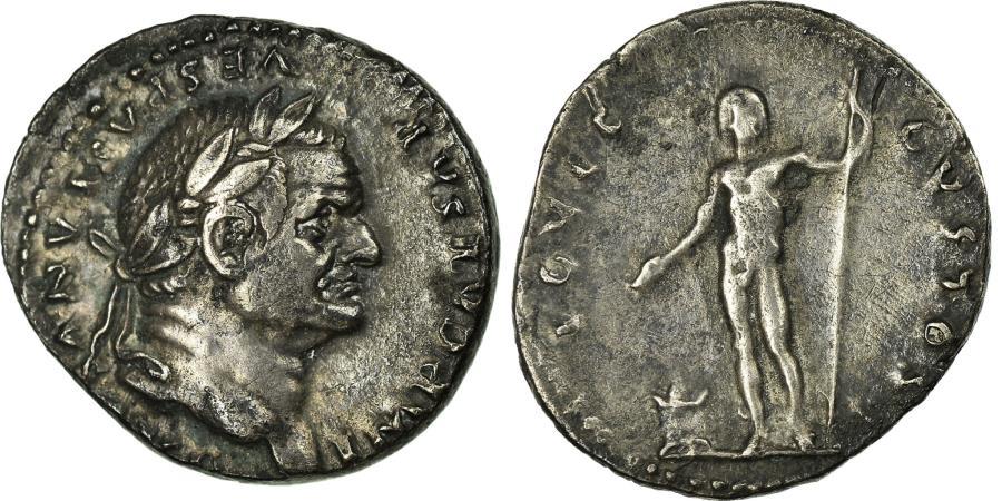 Ancient Coins - Coin, Vespasian, Denarius, Roma, AU(50-53), Silver