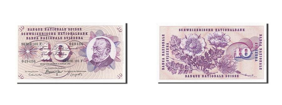 World Coins - Switzerland, 10 Franken, 1977, KM #45u, 1977-01-06, UNC(65-70), 101F 049486