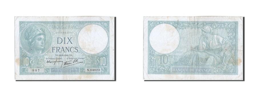 World Coins - France, 10 Francs, 10 F 1916-1942 ''Minerve'', 1941, KM #84, 1941-06-19,...