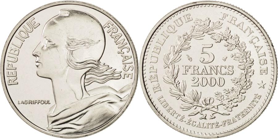 World Coins - France, Marianne du nouveau franc, 5 Francs, 2000, Paris, , KM 1967