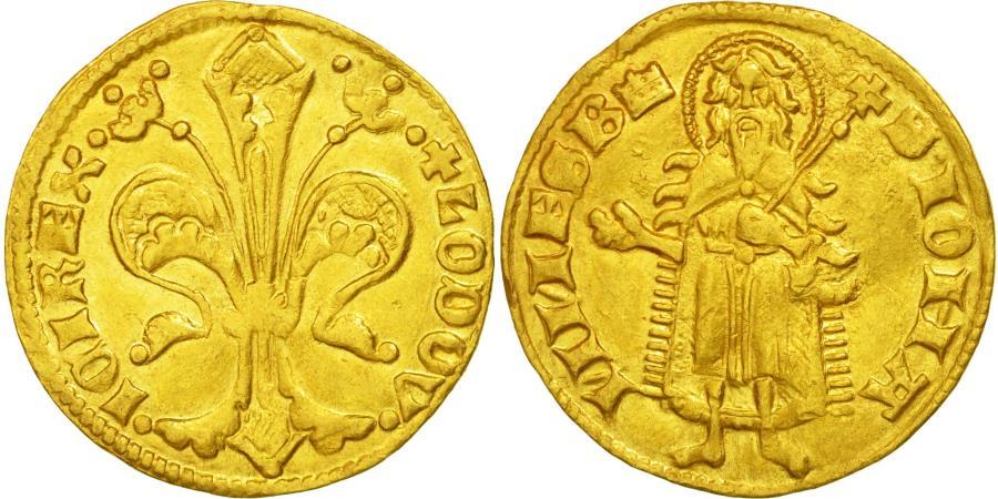 World Coins - Pologne, Louis Ier, Florin d'or au Saint Jean Baptiste, Huszar 512