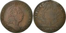 World Coins - Great Britain, Token, George III visited St. Pauls, 23 April 1789, Copper