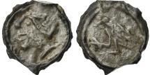 Ancient Coins - Coin, Bituriges, Uncertain, Potin au Corbeau, AU(50-53), Potin, Delestrée:2675