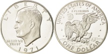 Us Coins - United States, Eisenhower Dollar, 1971, San Francisco, MS(64), Silver, KM:203a