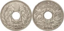 France, Lindauer, 25 Centimes, 1914, AU(50-53), Nickel, KM:867, Gadoury:379