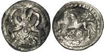 Ancient Coins - Ambiani, Denier aux chevaux affrontés, AU(50-53), Silver, Delestrée:438