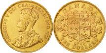 World Coins - Canada, George V, 10 Dollars, 1913, Royal Canadian Mint, Ottawa, AU(55-58)