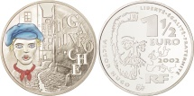 World Coins - France, 1-1/2 Euro, 2002, MS(65-70), Silver, KM:1332