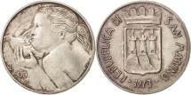 San Marino, 500 Lire, 1973, AU(55-58), Silver, KM:29